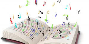 Storytelling Book Music Notes