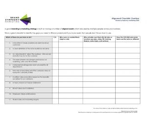 Alignment Checklist